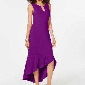 Thalia Sodi Flounce-Hem Maxi Dress